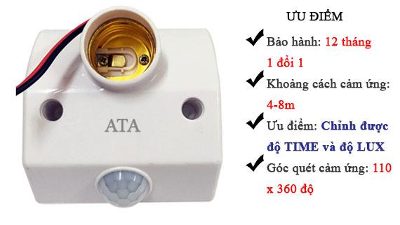 Đuôi đèn cảm ứng hồng ngoại ATA AT18