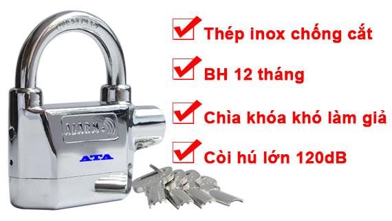Ổ khóa chống trộm ATA chống trộm nhà, xe máy