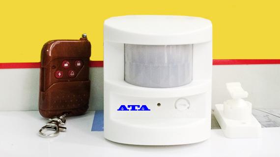 Chuông chống trộm báo khách hồng ngoại có remote AT-229