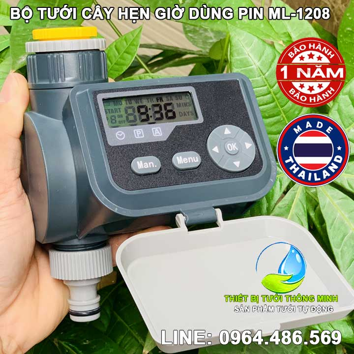 Bộ hẹn giờ tưới cây timer dùng pin ML 1208