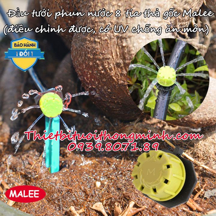 Đầu béc thả gốc phun nước 8 tia Malee thái lan