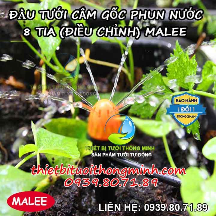 Béc tưới cắm gốc phun mưa 8 tia Malee thái lan MÃ SR-8T