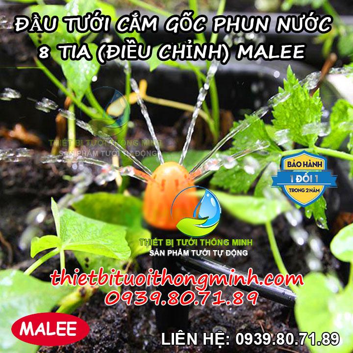Béc tưới cắm gốc phun mưa 8 tia Malee thái lan