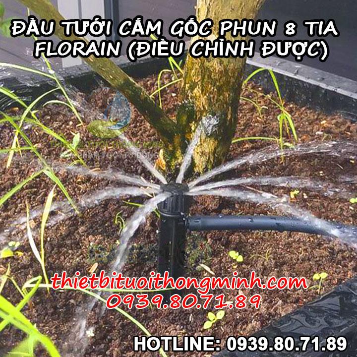 Đầu tưới cắm gốc phun nước 8 tia Florain
