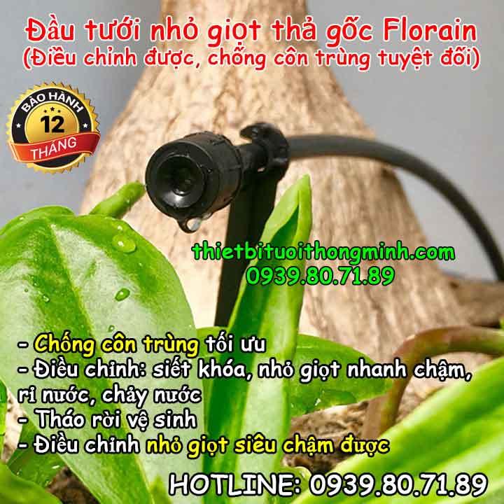 Đầu tưới nhỏ giọt chống côn trùng điều chỉnh FLorain