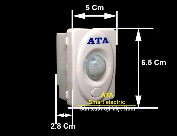 kích thước thực tế Thiết bị cảm ứng hồng ngoại ATA AT72