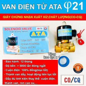 Van nước điện từ ATA phi 21(DN-15)