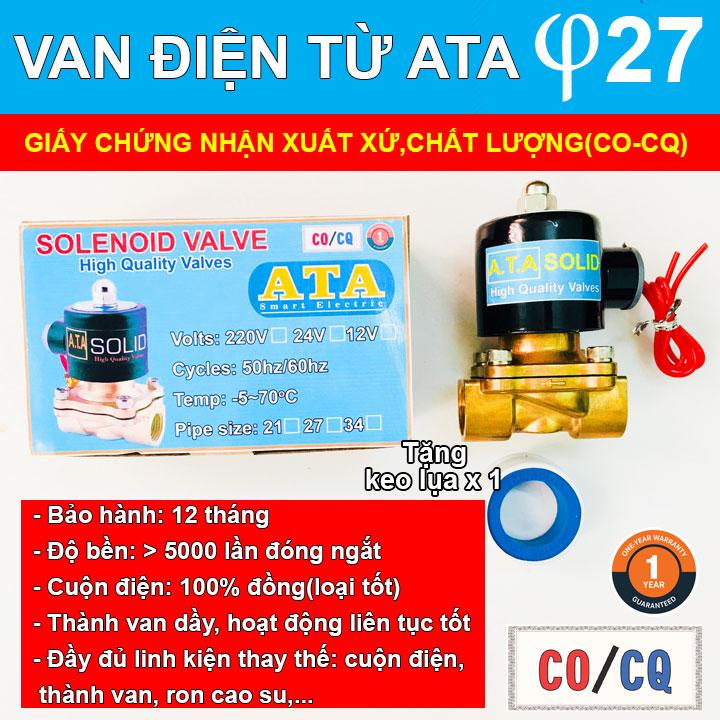 Van điện từ nước ATA phi 27(DN-20)