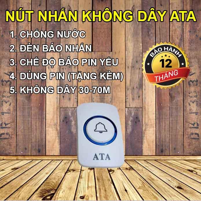 nút nhấn chuông Hệ thống gọi phục vụ không dây phòng karaoke, massage AT-307A