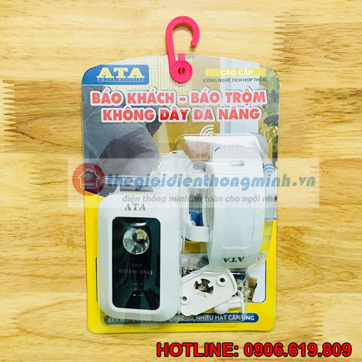 Bộ chuông báo khách hồng ngoại dùng pin cao cấp ATA