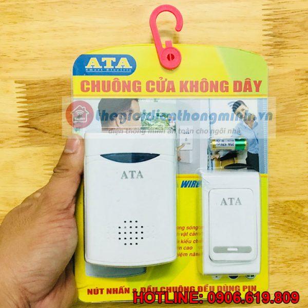 Chuông không dây dùng pin ATA AT-915