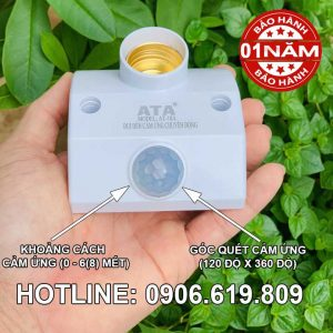 Đuôi đèn cảm ứng hồng ngoại ATA cao cấp