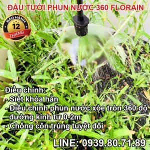 Vòi nhỏ giọt phun nước tưới cây thả gốc 360 độ Florain MÃ: FL-360