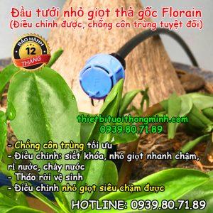 Đầu tưới nhỏ giọt 1 tia thả gốc điều chỉnh Florain