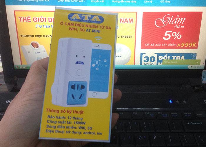 hộp đựng ổ cắm điều khiển từ xa bằng điện thoại wifi 3g thông minh