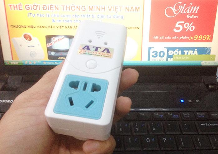 ổ cắm điều khiển từ xa bằng điện thoại wifi