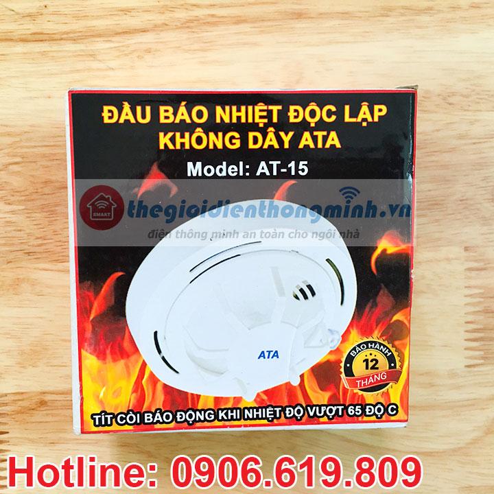 Đầu báo cháy nhiệt độc lập không dây ATA AT T15