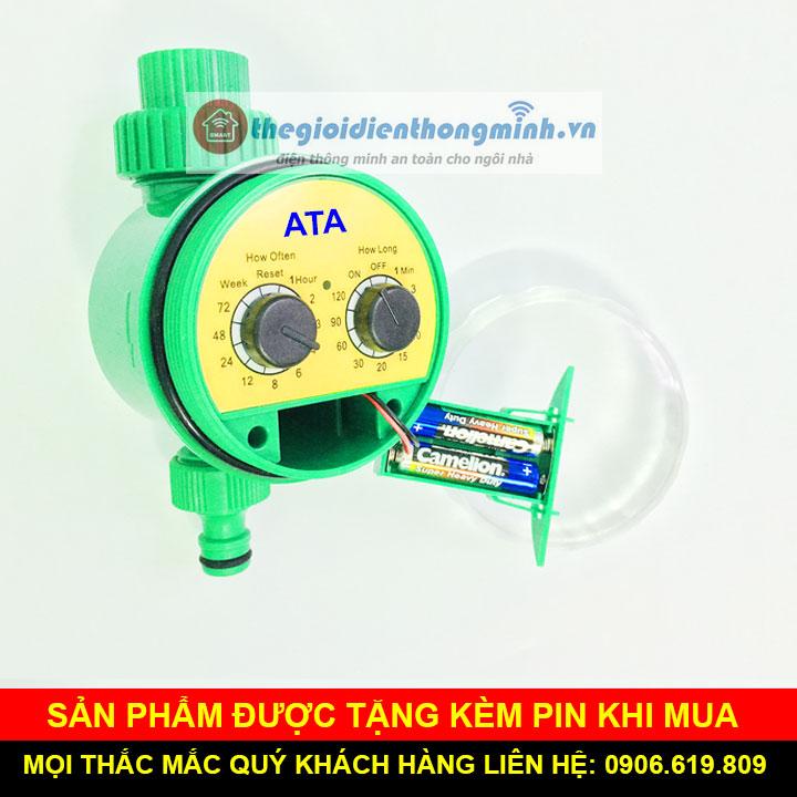 Van hẹn giờ tưới cây tự động dùng pin ATA TĐ1P