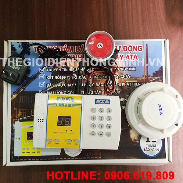 Hệ thống trung tâm báo cháy không dây cao cấp thông minh ATA