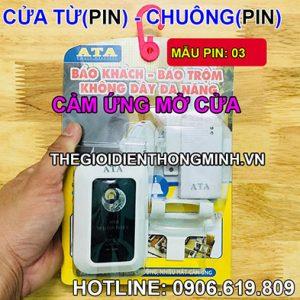 Bộ chuông báo khách mở cửa không dây dùng pin cao cấp ATA