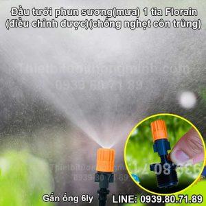 Béc phun sương 1 đầu ren ngoài 21mm Florain