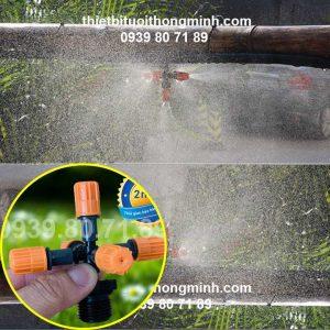 Đầu tưới lan phun sương 5 cửa ren ngoài 21mm Florain Mist-5C21