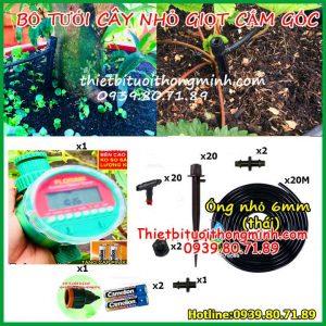 Bộ kit tưới nước cho cây nhỏ giọt tự động dùng pin 20 đầu tưới FLorain