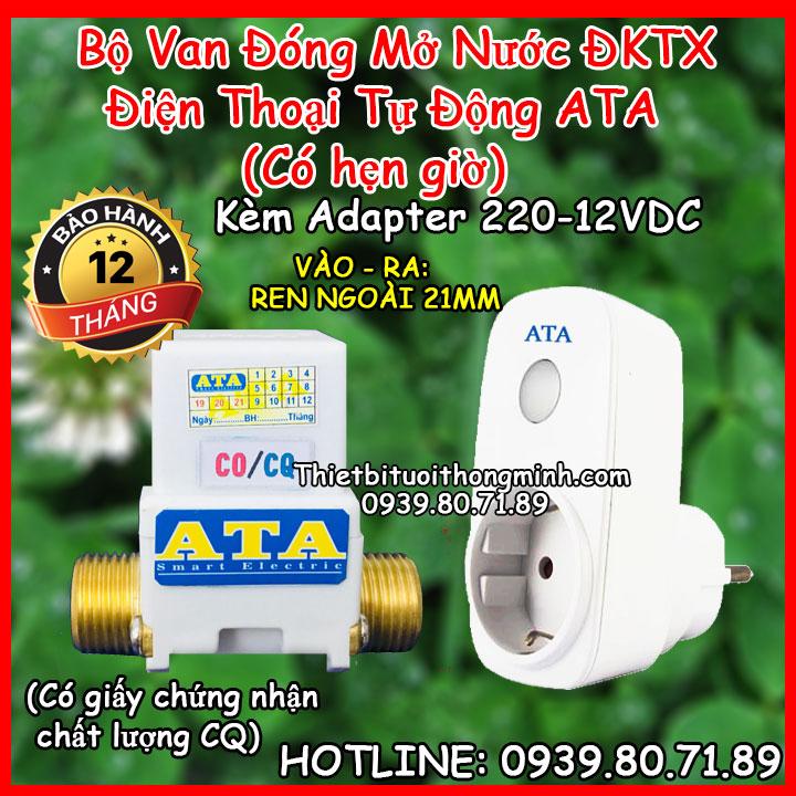 Bộ tưới cây wifi ATA tự động thông minh đóng mở nước từ xa ATA TDW-01