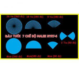 Đầu béc tưới phun nước mưa cắm gốc 7 chế độ Malee nyrt-7