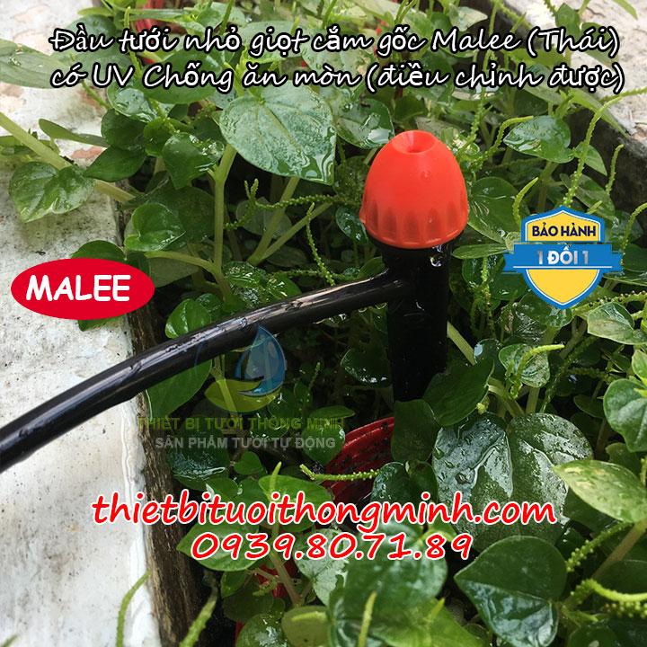 Đầu béc tưới cây nhỏ giọt điều chỉnh cắm gốc chống côn trùng Malee