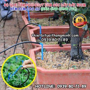 Que nhỏ giọt tưới cắm gốc Florain gắn ống cứng PVC