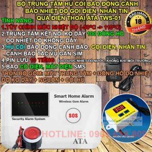 Thiết bị cảnh báo nhiệt độ qua sms bằng điện thoại ATA TWS-01