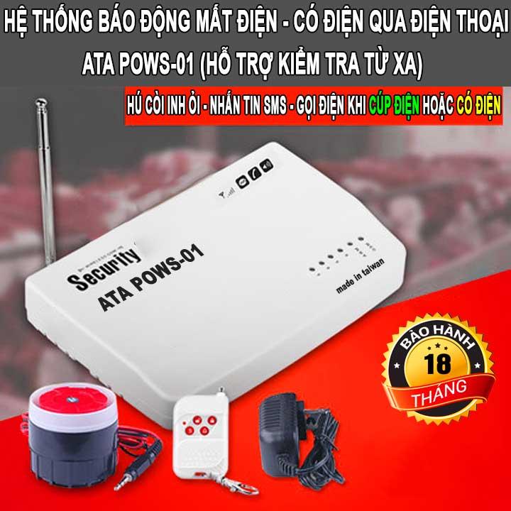 Bộ thiết bị cảnh báo mất điện qua điện thoại bằng tin nhắn ATA POWS-01
