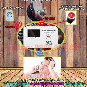 nguyên lý hoạt động Thiết bị sos báo khẩn cấp cho người già bệnh nhân qua điện thoại ATA SOS-01