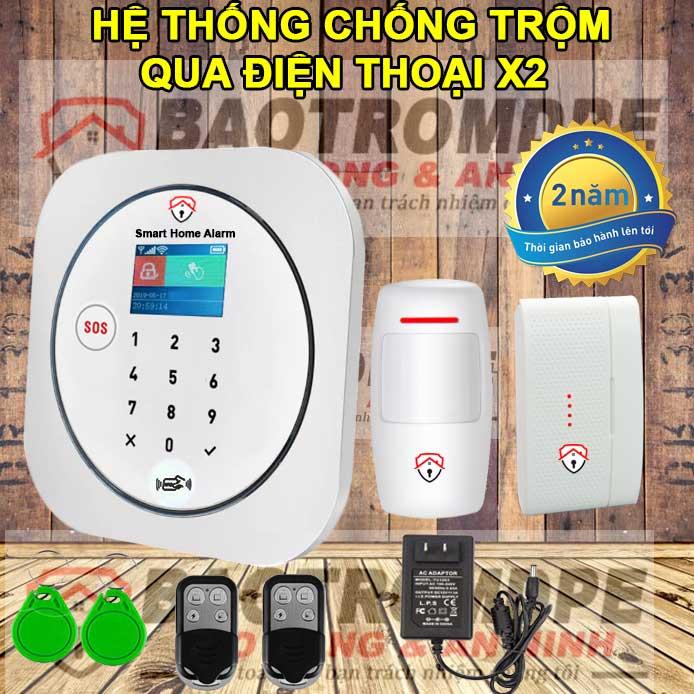Máy chống trộm gia đình không dây thông minh gọi điện thoại X2
