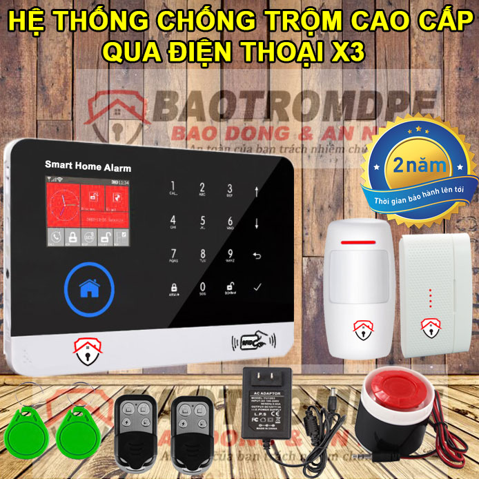 Thiết bị chống trộm gia đình không dây qua điện thoại X3