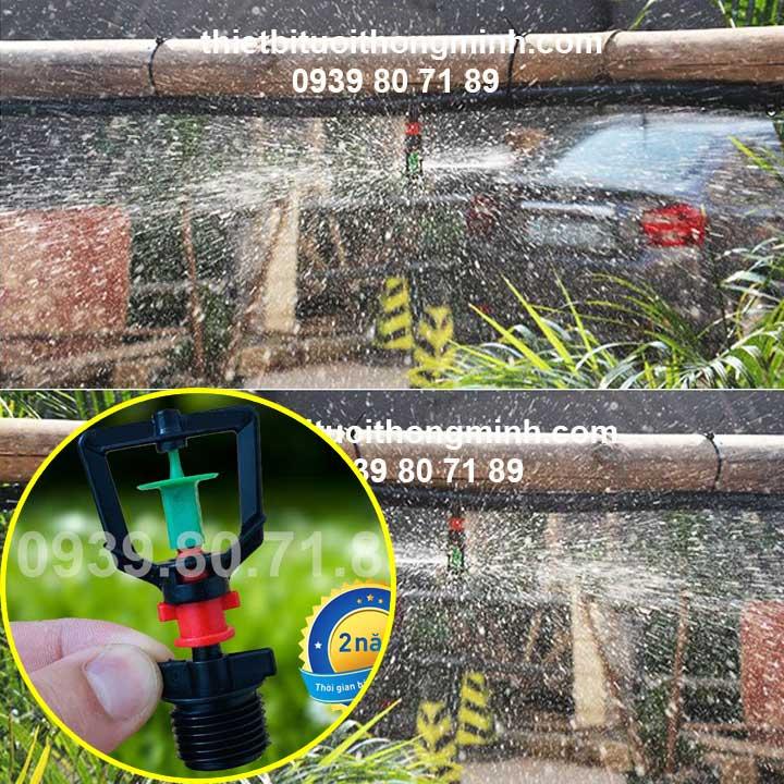 Đầu béc tưới phun mưa xoay 360 độ ren ngoài 21ly Florain
