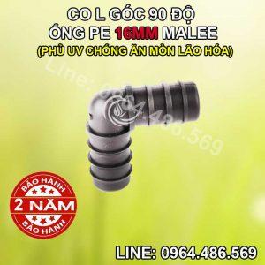 Co góc L nối ống 16mm Malee