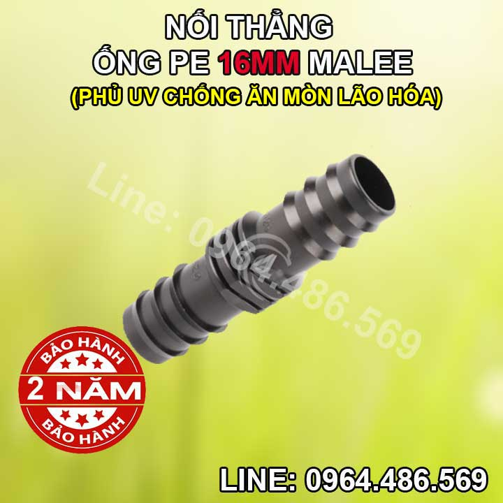 Nối thẳng ống 16mm Malee