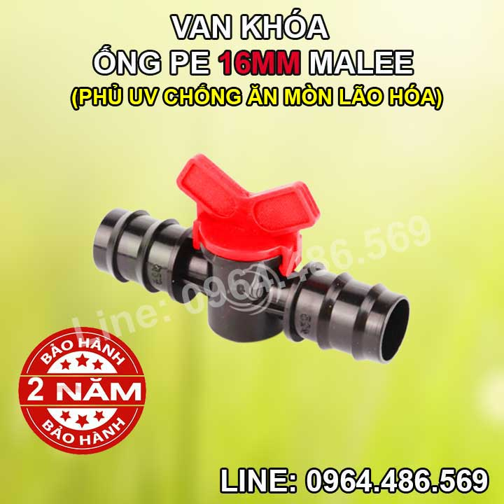 Van khóa ống 16mm Malee