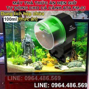 Máy cho cá cảnh ăn hẹn giờ tự động đơn giản ATA FM-01