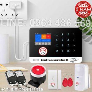 Bộ thiết bị chống trộm gia đình không dây gọi điện thoại SAS-01