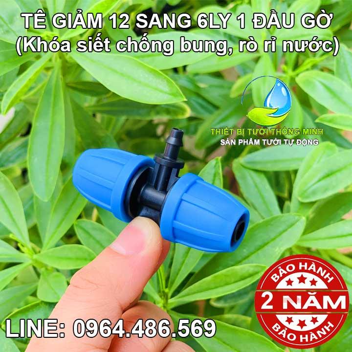 Tê giảm ống 12mm sang ống 6ly 1 đầu gờ Malee