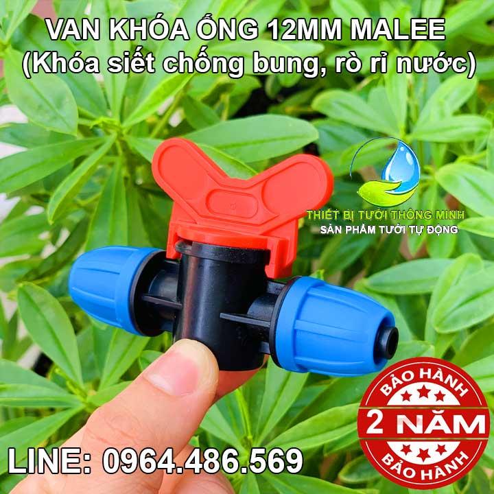 Van khóa ống mềm 12mm 2 đầu Malee