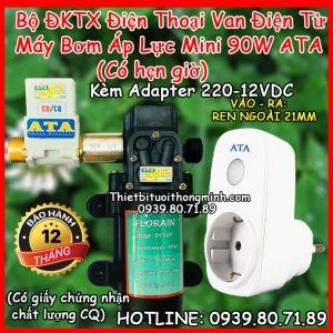 Bộ tưới cây điều khiển từ xa máy bơm van điện từ ATA TDW-P90