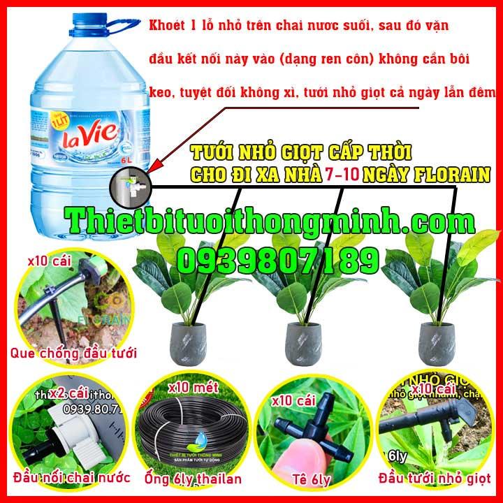 Bộ tưới cây nhỏ giọt cho ban công chung cư không nguồn nước FLorain