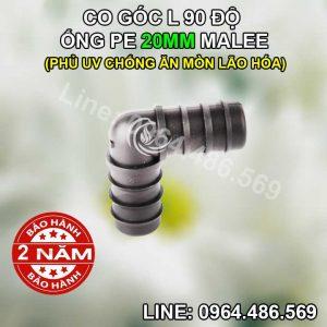 Co góc L nối ống 20mm Malee