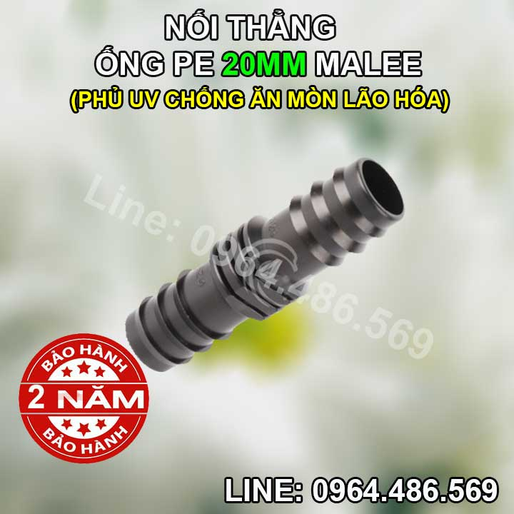 Nối thẳng ống 20mm Malee